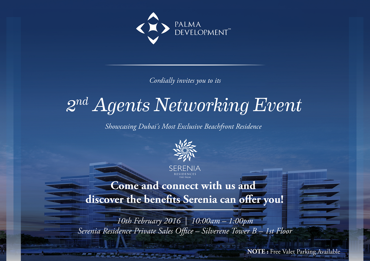 2nd Agents Networking Event Invitation